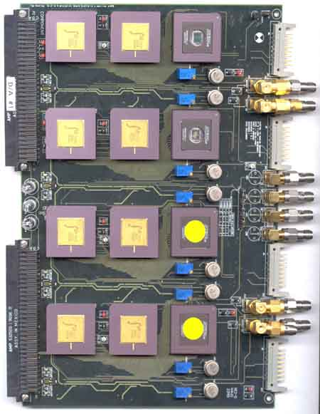 Top view of D/A board